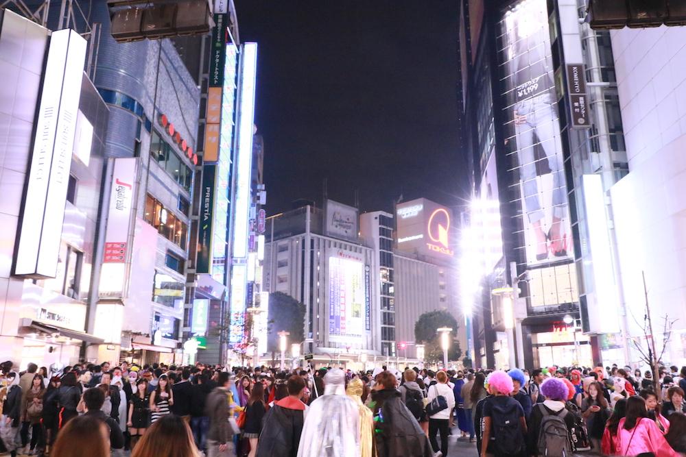 渋谷109付近の風景