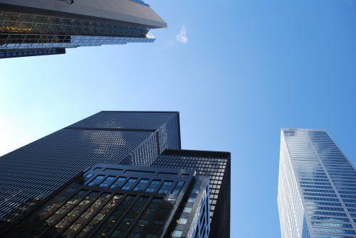 企業、オフィス街、会社