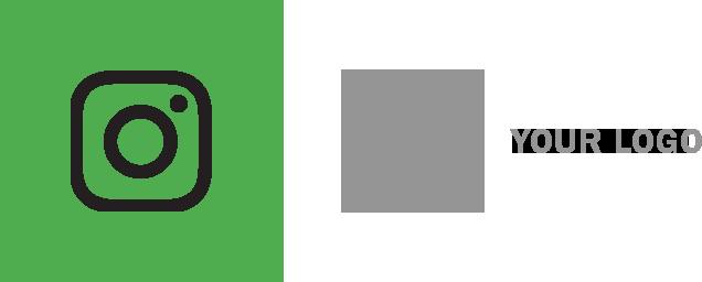 インスタグラム ロゴ 配置例