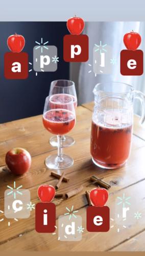 「文字」+ GIFスタンプ apple cider