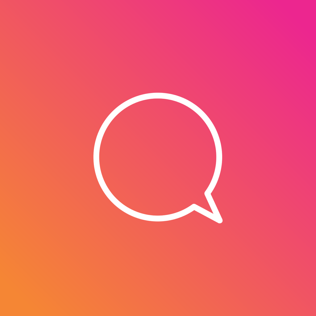 インスタグラム(Instagram)ストーリーズ「チャット」スタンプ